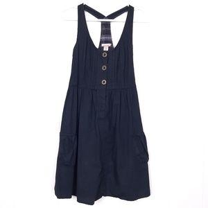 Mossimo Supply Co. black 100% cotton overall dress